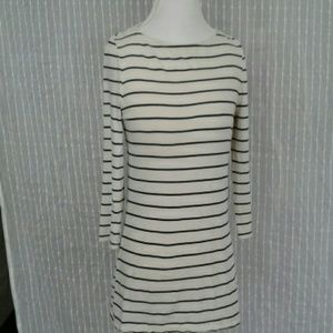Boat neck stripped top